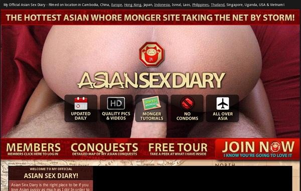 Asiansexdiary.com 신용 카드
