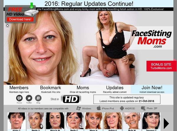 Sign Up Face Sitting Moms Free