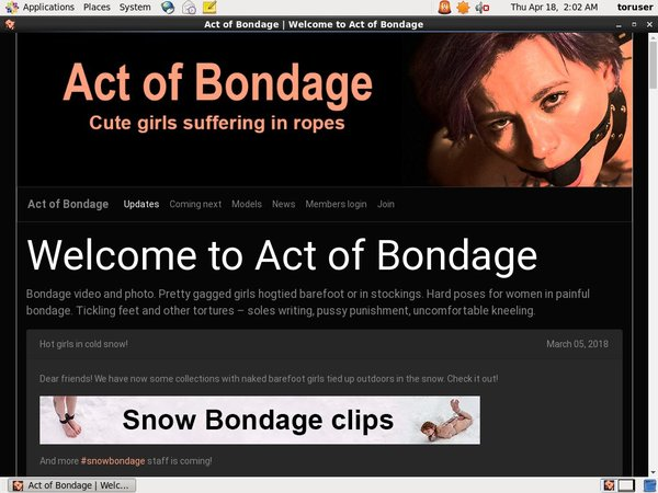 Bondageofact Discount Offer
