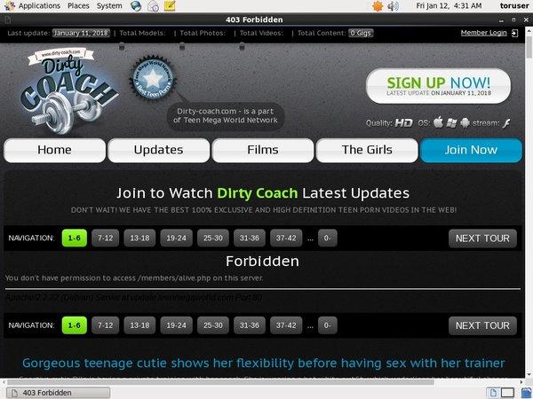 Dirty-coach.com Porn Account