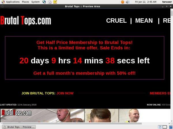Brutaltops.com Checkout Page