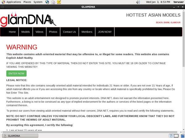 Glamdna.com Sign In