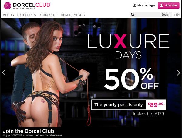 Dorcel Club Wachtwoord